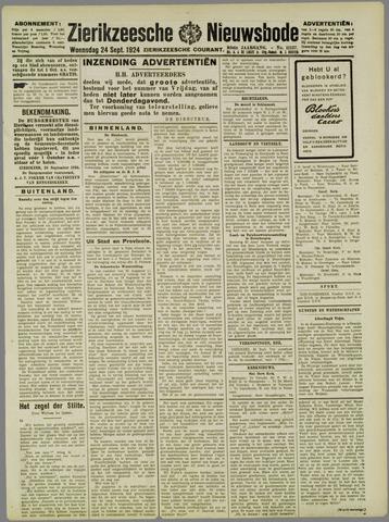 Zierikzeesche Nieuwsbode 1924-09-24