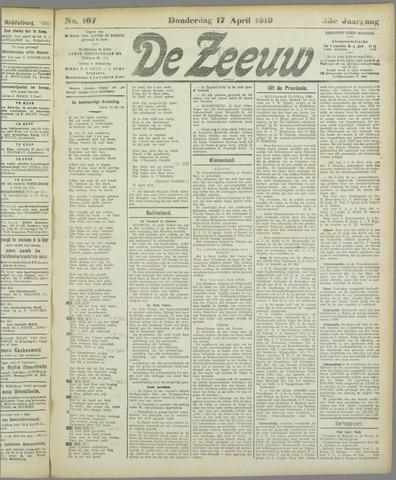 De Zeeuw. Christelijk-historisch nieuwsblad voor Zeeland 1919-04-17