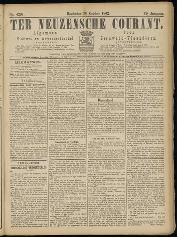 Ter Neuzensche Courant. Algemeen Nieuws- en Advertentieblad voor Zeeuwsch-Vlaanderen / Neuzensche Courant ... (idem) / (Algemeen) nieuws en advertentieblad voor Zeeuwsch-Vlaanderen 1902-10-30