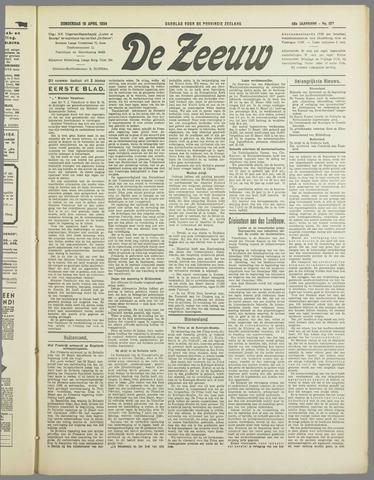 De Zeeuw. Christelijk-historisch nieuwsblad voor Zeeland 1934-04-19