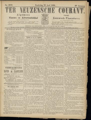 Ter Neuzensche Courant. Algemeen Nieuws- en Advertentieblad voor Zeeuwsch-Vlaanderen / Neuzensche Courant ... (idem) / (Algemeen) nieuws en advertentieblad voor Zeeuwsch-Vlaanderen 1900-04-26