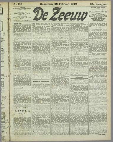 De Zeeuw. Christelijk-historisch nieuwsblad voor Zeeland 1920-02-26