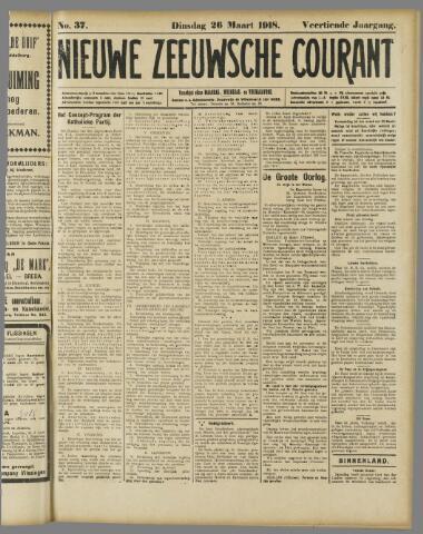 Nieuwe Zeeuwsche Courant 1918-03-26