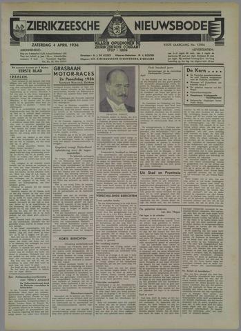 Zierikzeesche Nieuwsbode 1936-04-04