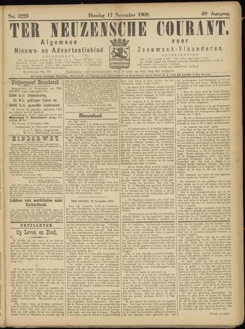 Ter Neuzensche Courant. Algemeen Nieuws- en Advertentieblad voor Zeeuwsch-Vlaanderen / Neuzensche Courant ... (idem) / (Algemeen) nieuws en advertentieblad voor Zeeuwsch-Vlaanderen 1908-11-17