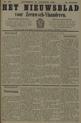 Nieuwsblad voor Zeeuwsch-Vlaanderen 1900-08-25