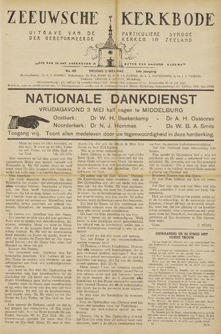 Zeeuwsche kerkbode, weekblad gewijd aan de belangen der gereformeerde kerken/ Zeeuwsch kerkblad 1946-05-03