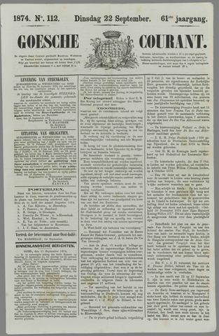 Goessche Courant 1874-09-22