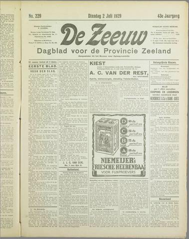 De Zeeuw. Christelijk-historisch nieuwsblad voor Zeeland 1929-07-02
