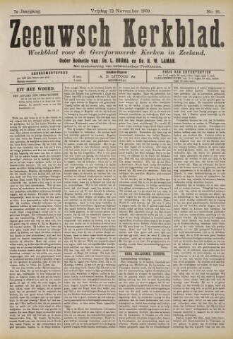 Zeeuwsche kerkbode, weekblad gewijd aan de belangen der gereformeerde kerken/ Zeeuwsch kerkblad 1909-11-12