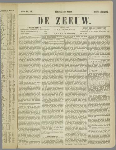 De Zeeuw. Christelijk-historisch nieuwsblad voor Zeeland 1890-03-22