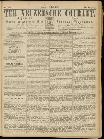 Ter Neuzensche Courant. Algemeen Nieuws- en Advertentieblad voor Zeeuwsch-Vlaanderen / Neuzensche Courant ... (idem) / (Algemeen) nieuws en advertentieblad voor Zeeuwsch-Vlaanderen 1905-07-11