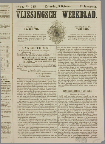 Vlissings Weekblad 1867-10-05