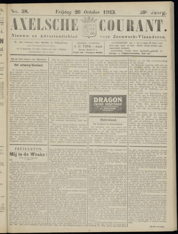 Axelsche Courant 1923-10-26