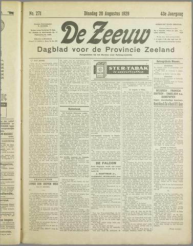 De Zeeuw. Christelijk-historisch nieuwsblad voor Zeeland 1929-08-20
