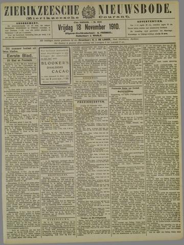 Zierikzeesche Nieuwsbode 1910-11-18