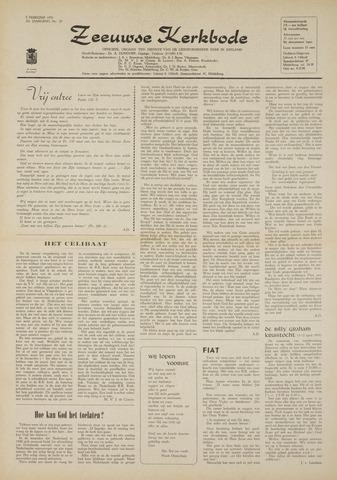 Zeeuwsche kerkbode, weekblad gewijd aan de belangen der gereformeerde kerken/ Zeeuwsch kerkblad 1970-02-05