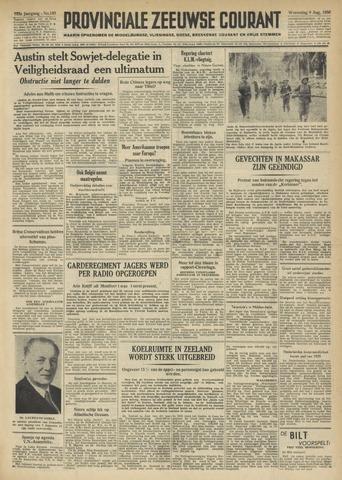 Provinciale Zeeuwse Courant 1950-08-09