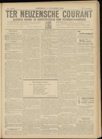 Ter Neuzensche Courant. Algemeen Nieuws- en Advertentieblad voor Zeeuwsch-Vlaanderen / Neuzensche Courant ... (idem) / (Algemeen) nieuws en advertentieblad voor Zeeuwsch-Vlaanderen 1936-11-25