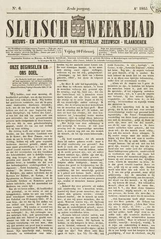 Sluisch Weekblad. Nieuws- en advertentieblad voor Westelijk Zeeuwsch-Vlaanderen 1865-02-10