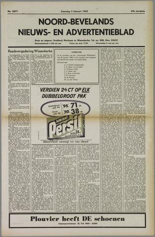Noord-Bevelands Nieuws- en advertentieblad 1962-02-03