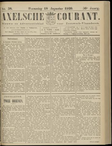 Axelsche Courant 1920-08-18