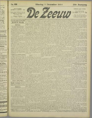 De Zeeuw. Christelijk-historisch nieuwsblad voor Zeeland 1924-12-09