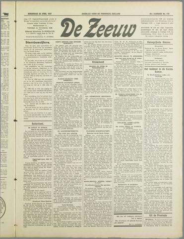 De Zeeuw. Christelijk-historisch nieuwsblad voor Zeeland 1937-04-22