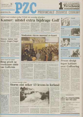 Provinciale Zeeuwse Courant 1991-01-07