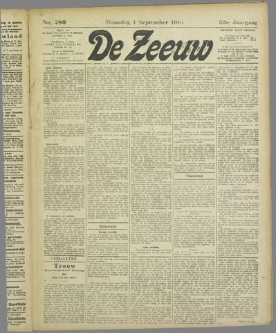 De Zeeuw. Christelijk-historisch nieuwsblad voor Zeeland 1919-09-01