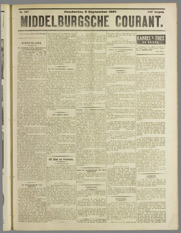 Middelburgsche Courant 1925-09-03