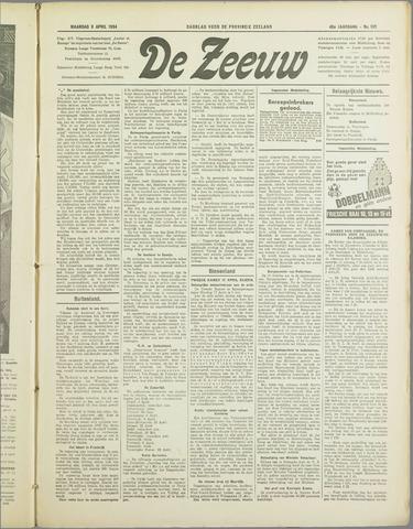 De Zeeuw. Christelijk-historisch nieuwsblad voor Zeeland 1934-04-09