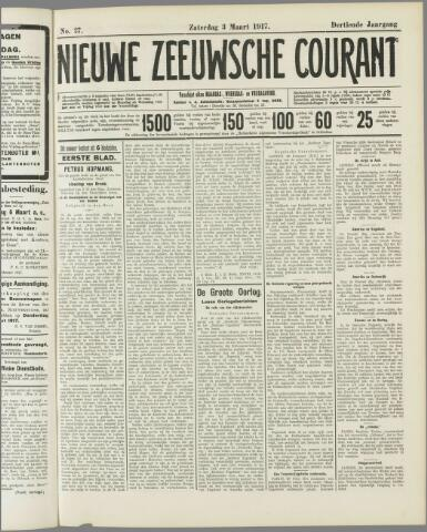Nieuwe Zeeuwsche Courant 1917-03-03