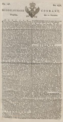 Middelburgsche Courant 1771-12-10