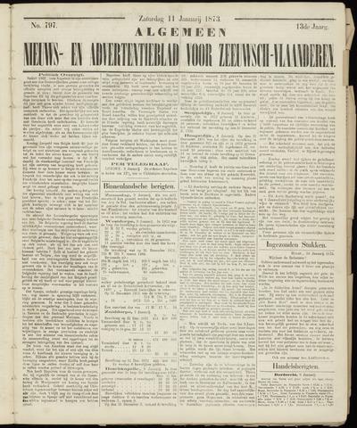 Ter Neuzensche Courant. Algemeen Nieuws- en Advertentieblad voor Zeeuwsch-Vlaanderen / Neuzensche Courant ... (idem) / (Algemeen) nieuws en advertentieblad voor Zeeuwsch-Vlaanderen 1873-01-11