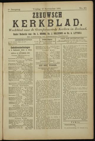 Zeeuwsche kerkbode, weekblad gewijd aan de belangen der gereformeerde kerken/ Zeeuwsch kerkblad 1903-11-13