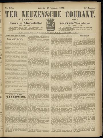 Ter Neuzensche Courant. Algemeen Nieuws- en Advertentieblad voor Zeeuwsch-Vlaanderen / Neuzensche Courant ... (idem) / (Algemeen) nieuws en advertentieblad voor Zeeuwsch-Vlaanderen 1894-09-29
