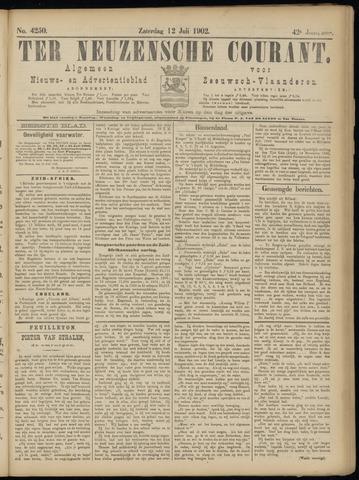 Ter Neuzensche Courant. Algemeen Nieuws- en Advertentieblad voor Zeeuwsch-Vlaanderen / Neuzensche Courant ... (idem) / (Algemeen) nieuws en advertentieblad voor Zeeuwsch-Vlaanderen 1902-07-12
