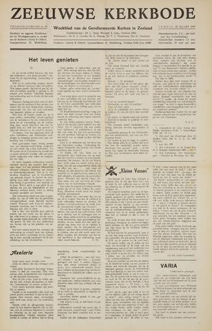 Zeeuwsche kerkbode, weekblad gewijd aan de belangen der gereformeerde kerken/ Zeeuwsch kerkblad 1957-03-22