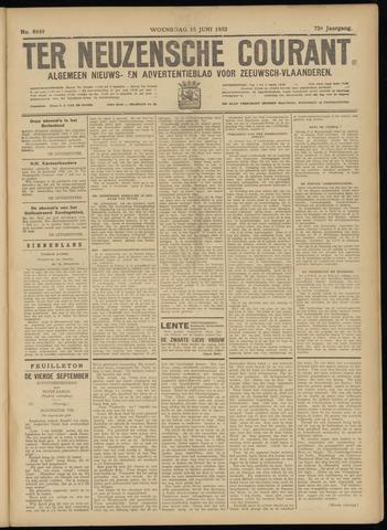 Ter Neuzensche Courant. Algemeen Nieuws- en Advertentieblad voor Zeeuwsch-Vlaanderen / Neuzensche Courant ... (idem) / (Algemeen) nieuws en advertentieblad voor Zeeuwsch-Vlaanderen 1932-06-15