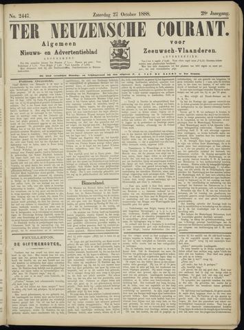 Ter Neuzensche Courant. Algemeen Nieuws- en Advertentieblad voor Zeeuwsch-Vlaanderen / Neuzensche Courant ... (idem) / (Algemeen) nieuws en advertentieblad voor Zeeuwsch-Vlaanderen 1888-10-27