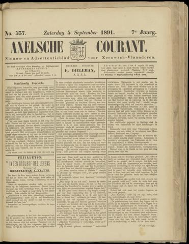 Axelsche Courant 1891-09-05