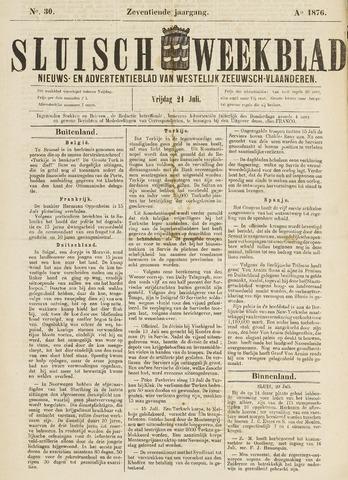 Sluisch Weekblad. Nieuws- en advertentieblad voor Westelijk Zeeuwsch-Vlaanderen 1876-07-21
