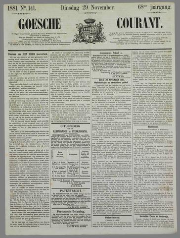 Goessche Courant 1881-11-29