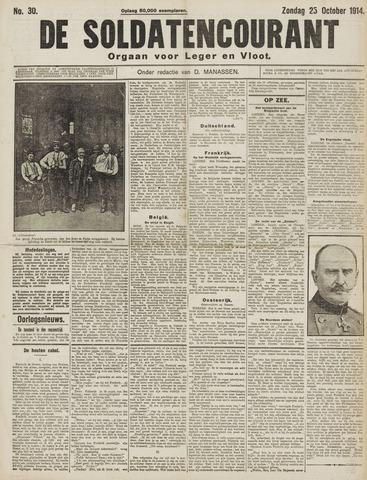 De Soldatencourant. Orgaan voor Leger en Vloot 1914-10-25