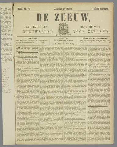 De Zeeuw. Christelijk-historisch nieuwsblad voor Zeeland 1888-03-24