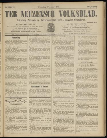 Ter Neuzensch Volksblad. Vrijzinnig nieuws- en advertentieblad voor Zeeuwsch- Vlaanderen / Zeeuwsch Nieuwsblad. Nieuws- en advertentieblad voor Zeeland 1913-01-29