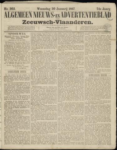 Ter Neuzensche Courant. Algemeen Nieuws- en Advertentieblad voor Zeeuwsch-Vlaanderen / Neuzensche Courant ... (idem) / (Algemeen) nieuws en advertentieblad voor Zeeuwsch-Vlaanderen 1867-01-30