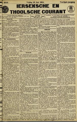 Ierseksche en Thoolsche Courant 1924-06-13