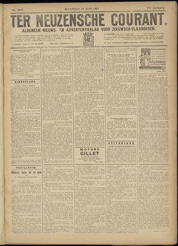 Ter Neuzensche Courant. Algemeen Nieuws- en Advertentieblad voor Zeeuwsch-Vlaanderen / Neuzensche Courant ... (idem) / (Algemeen) nieuws en advertentieblad voor Zeeuwsch-Vlaanderen 1931-06-29